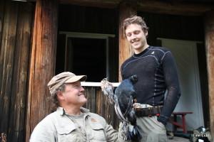 Far og sønn med fangst